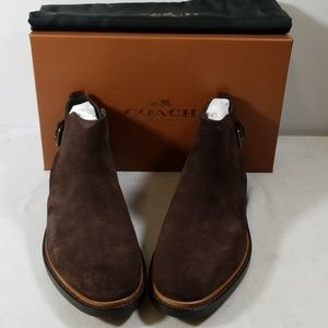 NWB Coach Dark Brown Suede Alston Jodphur Shoes
